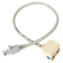 StarTech.com 2-to-1 RJ45 Splitter Cable Adapter - F/M network splitter