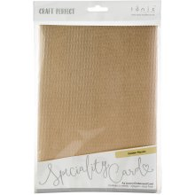 Craft Perfect Luxury Embossed A4 Cardstock 5/Pkg-Golden Mosaic
