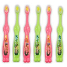 Colgate Kids Boys and Girls Toothbrushes for 2  5 Years Extra Soft Bristles (6 Pack, Pink, Green)
