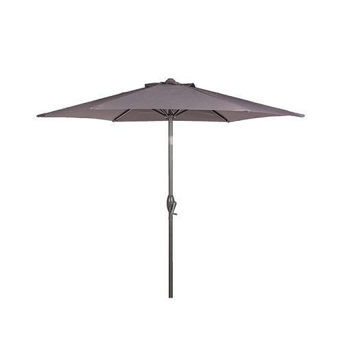 Royalcraft Garden Furniture Grey 3m Crank And Tilt Parasol