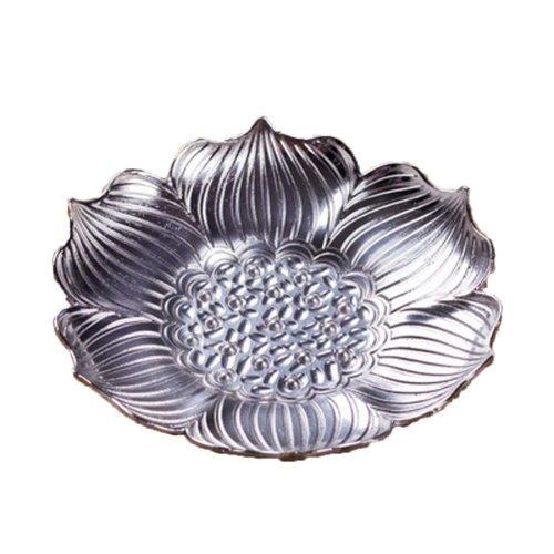 Zine Alloy Metal Lotus Flower Shape Drink Coaster Tea Cup Coaster On