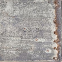 HD non-woven wallpaper metal plates light gray and rust
