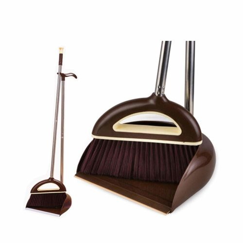 Dustpan And Brush EXTRA Long Handle Broom And Dustpan ,37 inches 47 Inches Handle Broom Set- Broom and Dustpan Set for Home,Lobby, Shop,...