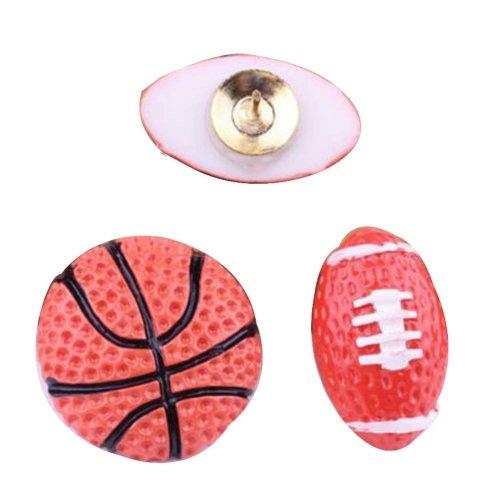 4 Pcs Creative Pushpin Push Pin Thumbtack Office Supplies, Rugby and Basketball