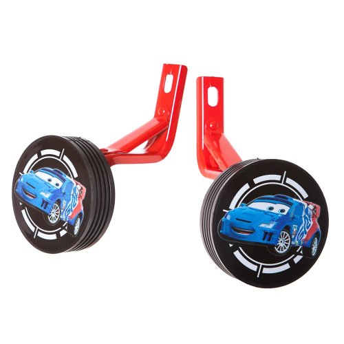 "14"" Wheel DISNEY CARS BIKE STABILISERS BLACK/BLUE New (No fittings needed)"