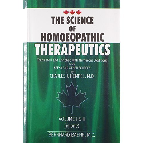 The Science of Homeopathic Therapeutics [Hardcover] [Jun 30, 2004] Hempel, C