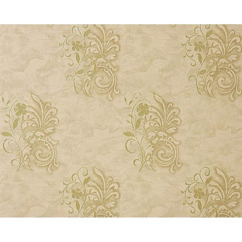 EDEM 926-36 deluxe non-woven wallpaper antique plaster flower beige-green olive