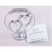 Crystocraft Gifts - 25th Silver Anniversary with Swarvoski Crystal Elements