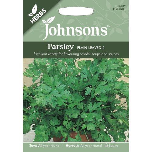 Johnsons Seeds - Pictorial Pack - Herb - Parsley Plain Leaved - 1000 Seeds