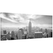 New York Skyline Panorama Canvas Print Wall Art Picture