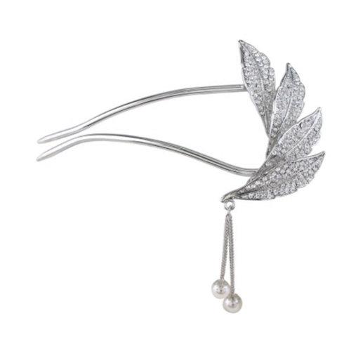 U-shaped Hairpin,Retro Women Girls Rhinestone Hair Pin Hair Stick#F