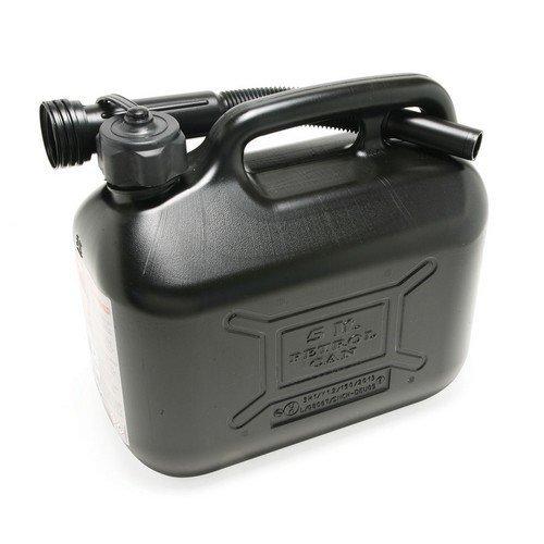 Hilka 84809025 Plastic 5L Fuel Can Black