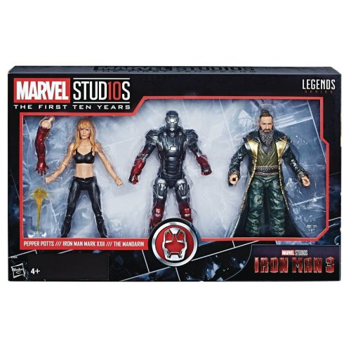 Hasbro Marvel Legends MCU 10th Anniversary 3-Pack (Iron Man, Pepper Potts & Mandarin)