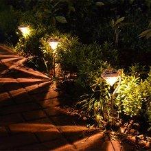4Pcs Outdoor LED Path Lamp Solar Power Garden Fence Light Lawn Decoration Diamond Shape