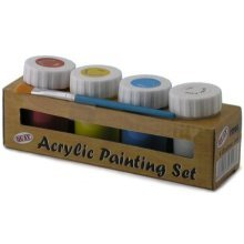 Acrylic Painting Set With 4 Colours -  acrylic set 4 colours painting childrens arts crafts