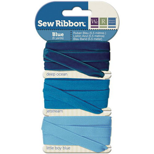 """We R Memory Keepers Sew Ribbon .375""""X6yds-Blue"""