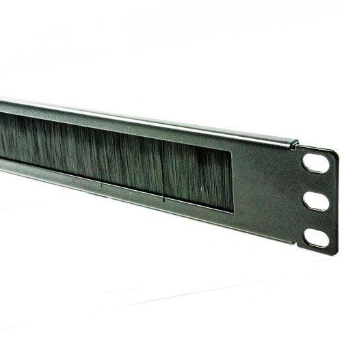 "19"" 1u Brush Panel for Wall and Floor Cabinet Data Cabinet Letterbox Style - 1u Brush Strip"