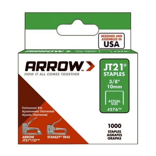 Arrow Staples Jt21 3/8in - 10mm (Box of 1000)