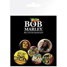 Bob Marley One Love Badge Pack