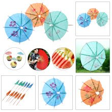 Cocktail Drinks Umbrellas - 50PC Colourful Party pack - Beach Party Umbrellas for Tropical Drink Presentation - By TRIXES