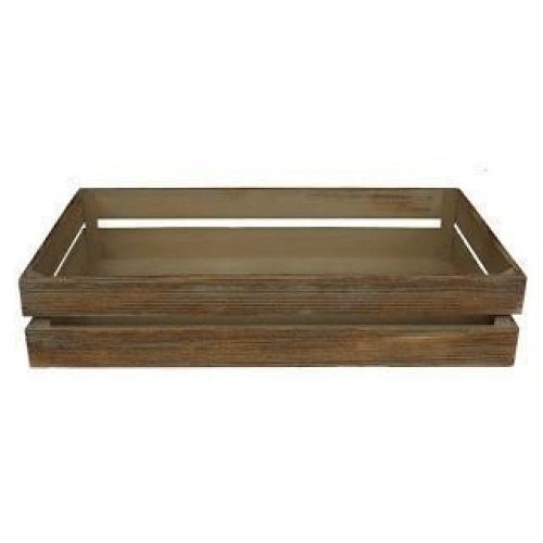 Medium Oak Effect Wooden Crate | Wooden Storage Tray