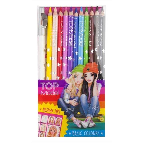 Depesche Top Model Coloured Pencils 12 Colours 6694_A