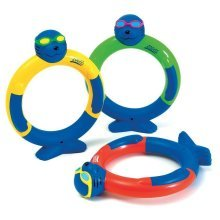 Pack Of 3 Zoggs Dive Rings - Kids Water Confidence Toy Years Blueyellowredgreen -  dive rings zoggs kids water confidence toy 3 years