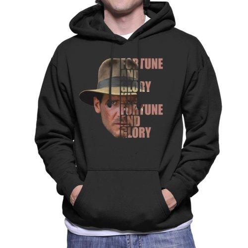 Indiana Jones Half Head Text Men's Hooded Sweatshirt