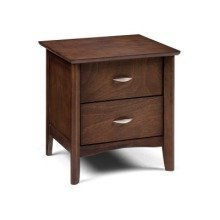 Minu Wood Bedside Cabinet 2 Drawer Wenge Finish Fully Assembled Option