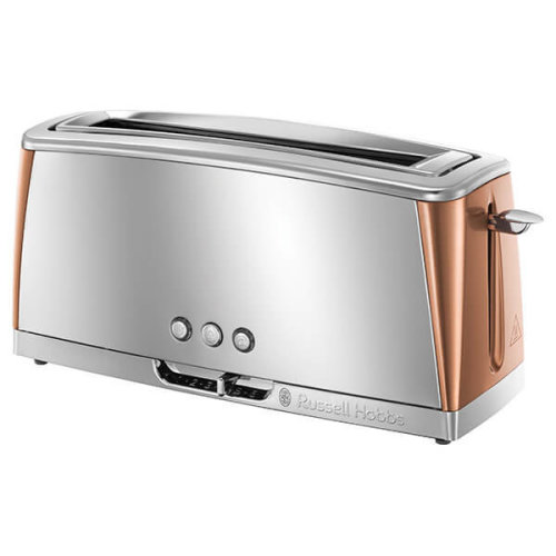 Russell Hobbs Luna Stainless Steel & Copper Long Slot Toaster