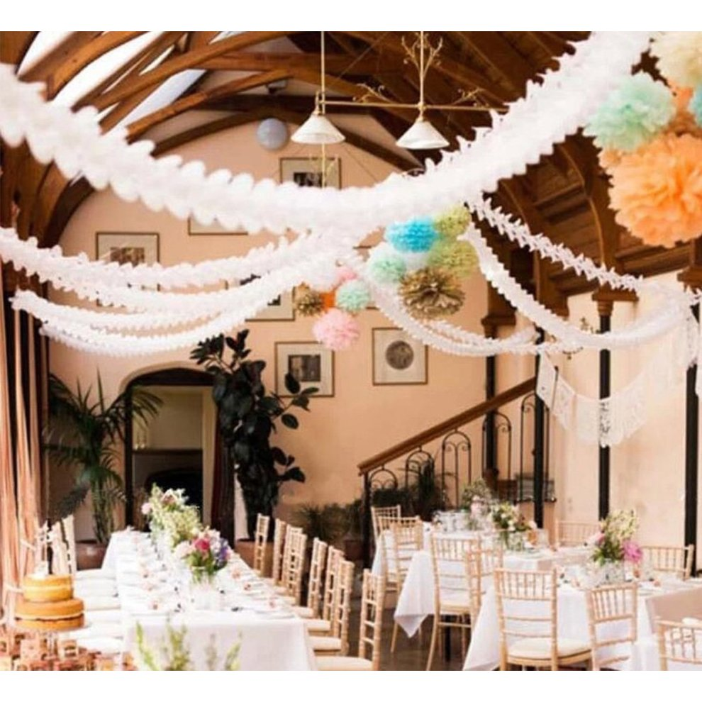 Reusable Hanging Garland Four-Leaf Tissue Paper Flower Party Streamers for...