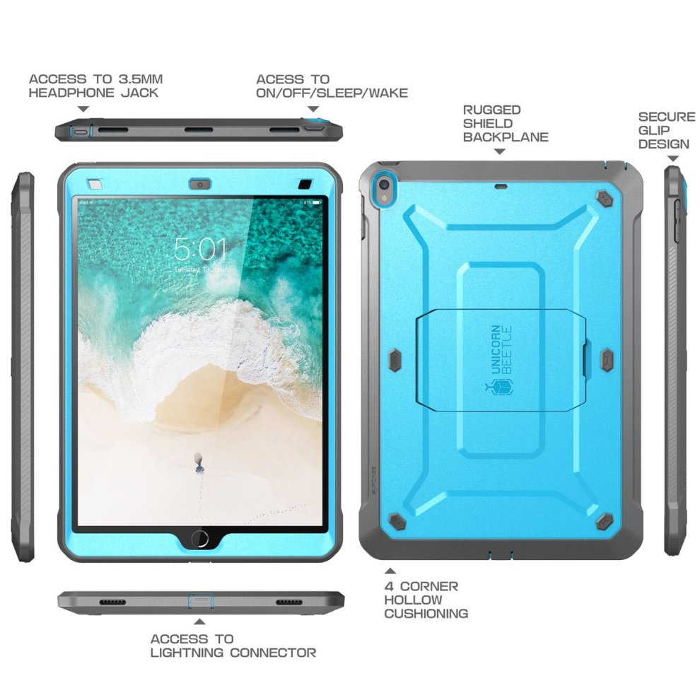 new style 5a262 e654b New iPad Pro 10.5 inch case, SUPCASE [Heavy Duty] [Unicorn Beetle PRO  Series] Full-body Rugged Protective Case with Built-in Screen Protector...