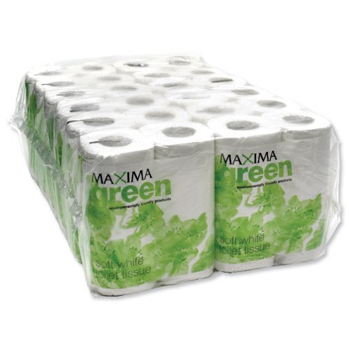 Maxima Green Toilet Rolls White 200 Sheet X 48's