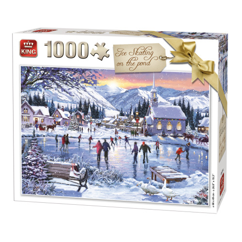 WINTER COLLECTION 1000 PCS ICE SKATING PUZZLE