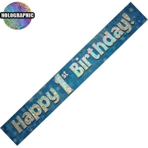 Age 1 Birthday Banner Male