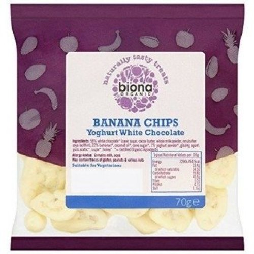 BIONA - Organic Yoghurt / White Chocolate Coated Banana