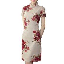Elegant Chinese Dress Qipao Dresses Cheongsam Women Clothing Skirt XXL-12