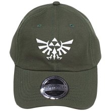 Bioworld Nintendo Legend Of Zelda Embroidered Tri-Force Crest Stone Washed  Denim Dad Baseball Cap 85b96f319c00