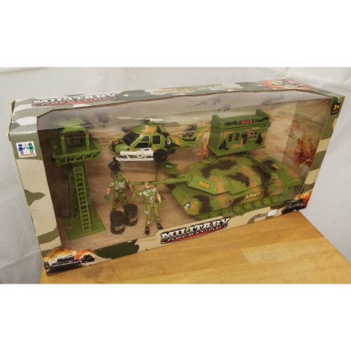 Military Operation Action Play Set Including 2 Soldiers - Look-Out Tower
