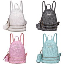KONO Women Bling Studs Backpack Small School Bag