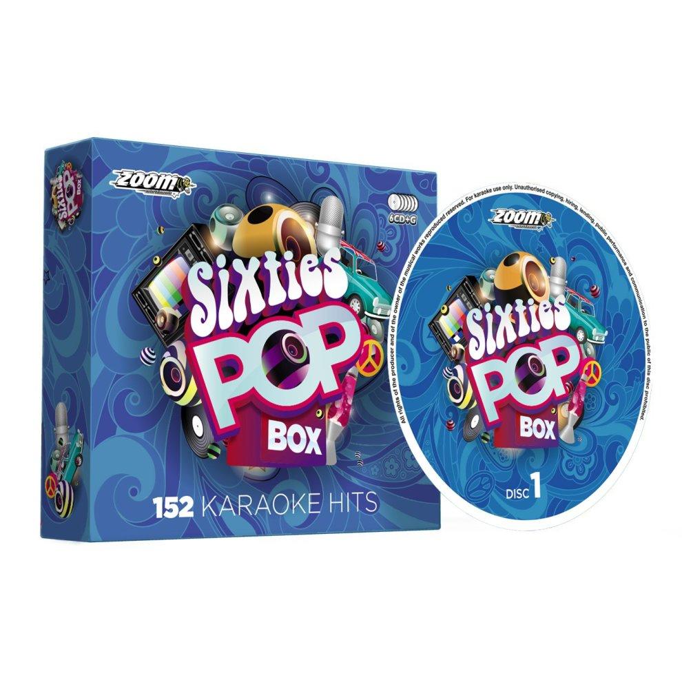 Zoom Karaoke Sixties Pop Box Party Pack - 6 CD+G Box Set - 152 Songs