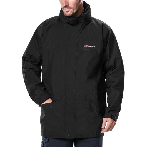 Berghaus Men's Iii Gore Tex Walking Shell Cornice Jacket, Black/Black, X-Large
