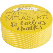 The Makery Tape Measure & Tailors Chalk-Pink Tape Measure, Blue & White Chalk