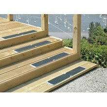 4 Pack of Essential Aluminium Decking Steps Anti Slip Grip Plates 635mm x115mm