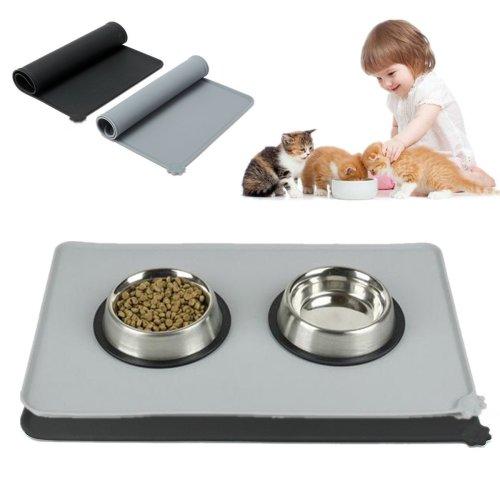 Waterproof Anti-Slip Silicone Pet Dog Puppy Feeding Mat Bowl Pad Food Placemat