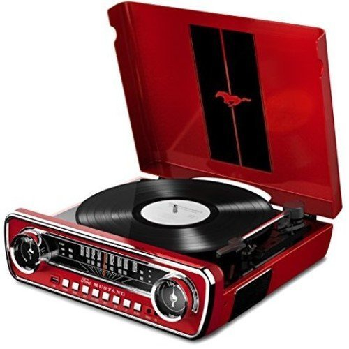 ION Audio Mustang LP In 4-in-1 Classic Car-Styled Retro Music Centre with Turntable, Radio, USB and Aux inputs, Plus Room-Filling On-Board Stereo...