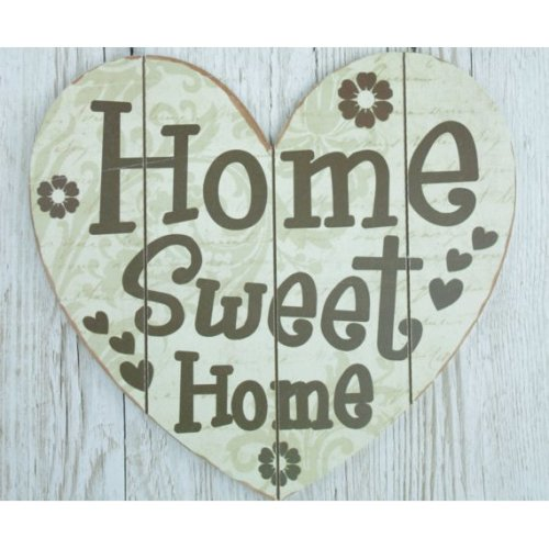 Heart Shaped Wall Plaque Home Sweet Home Sign X Large SG1907B