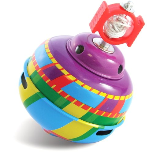 DAM Schylling Colorful Self-Winding Classic Spinning Top Toy