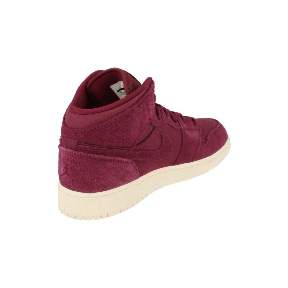 best service 8aa7d 41a1a ... Nike Air Jordan 1 Mid BG Hi Top Trainers 554725 Sneakers Shoes - 2 ...