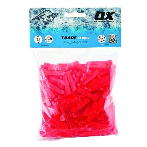 OX OX-T160605 Trade Wedge Shaped Tile Spacers, Red, 6 mm